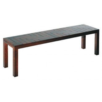Luciana Martins and Gersons de Oliveira Parquet Bench