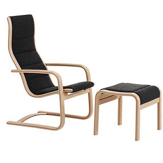 Yngve Ekström Lamello Easy Chair - Footstool