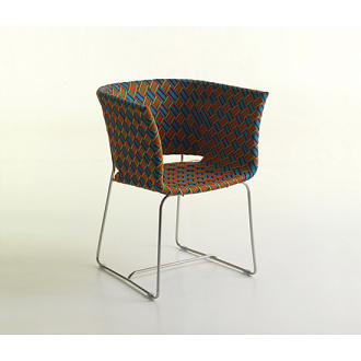 Philippe Bestenheider Kente Chair, Coffee Table and Flower Box