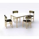 Jasper Morrison Trattoria Chair and Table