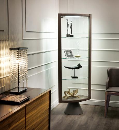 Aldo Greco Saba Glass Showcase