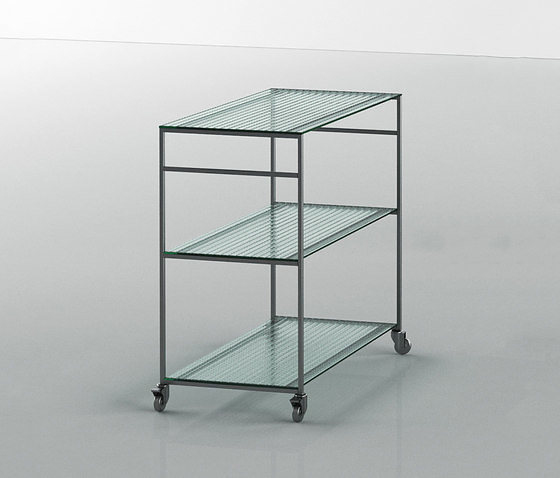 Piero Lissoni Works 2014 Trolleys and Shelving System