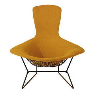 Harry Bertoia Bird Lounge Chair and Ottoman