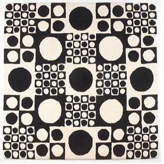 verner panton geometri carpet. Black Bedroom Furniture Sets. Home Design Ideas
