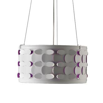 Alessandro Trentin and Carlo Zerbaro Velvet Hanging Lamp