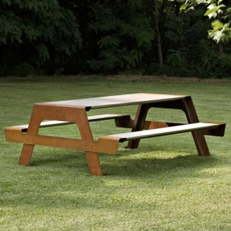 Andrea Loreta, Chiara Pacifici and Marco Fiecconi Pic-Nic Table And Bench