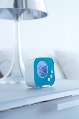 Authentics Cube LCD Alarm Clock