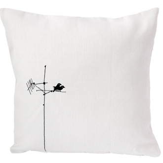 Charlene Mullen Lovebirds Cushion