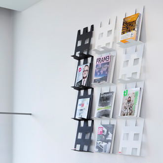Wall Hanging Magazine Rack wall mounted magazine rack. great blu dot dd wall mount magazine