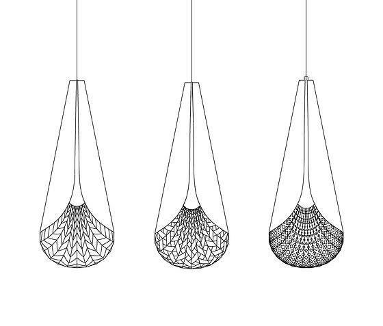 David Trubridge Baskets Of Knowledge Pendant Lamp