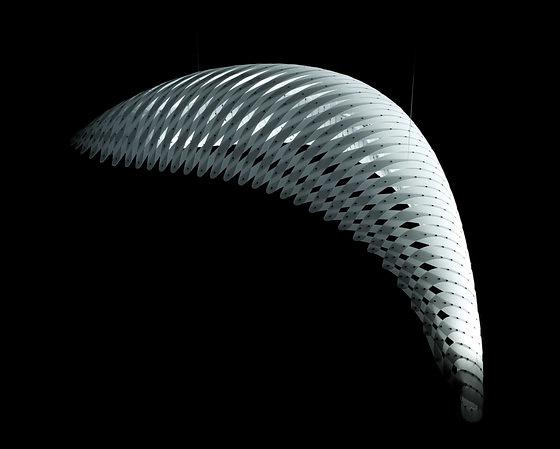 David Trubridge Wing Pendant Lamp