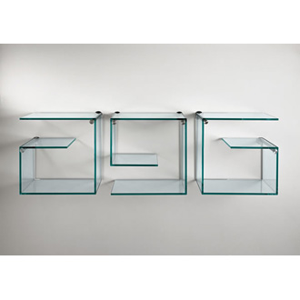 Emilio Nanni and Fabio Bortolani Alfabeta Glass Shelves