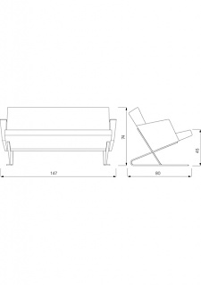 For Use Satyr Two Seater With Armrest