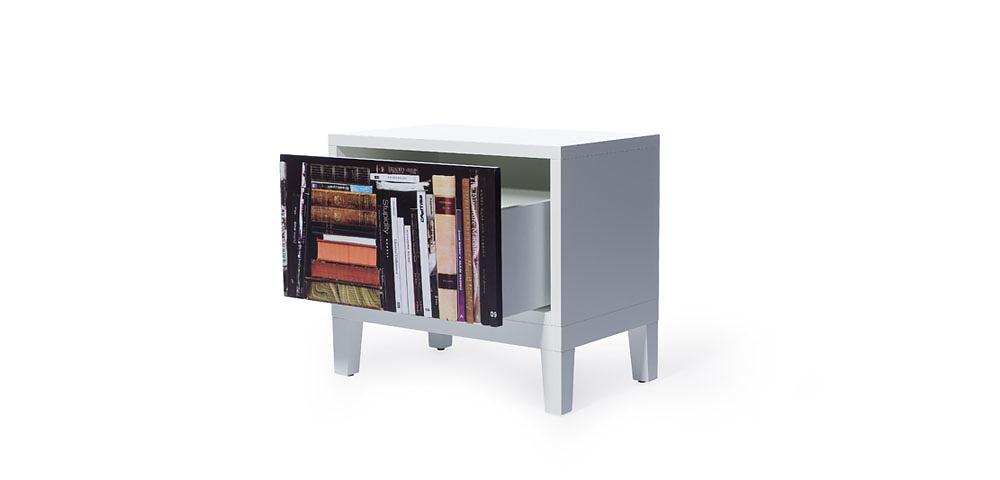 Front Bookshelf Sidetable