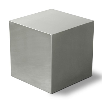 Gus Modern Stainless Steel Cube