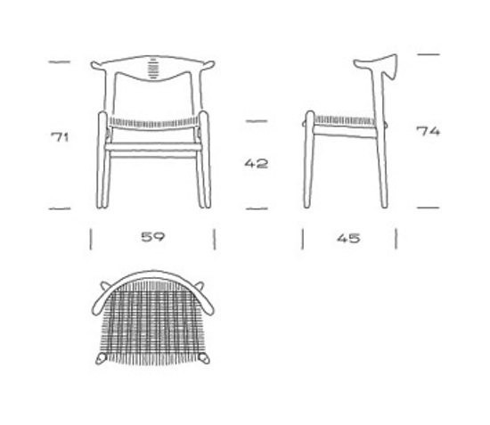 Hans J. Wegner PP 505 Cowhorn Chair