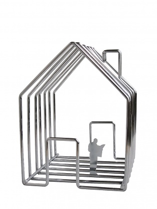 Invotis Orange Studio Wirehouse Magazine Holder