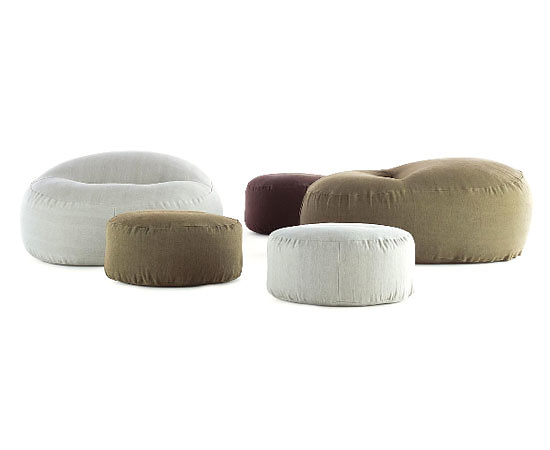 Ivano Redaelli Friz and Frizzino Armchair and Pouf