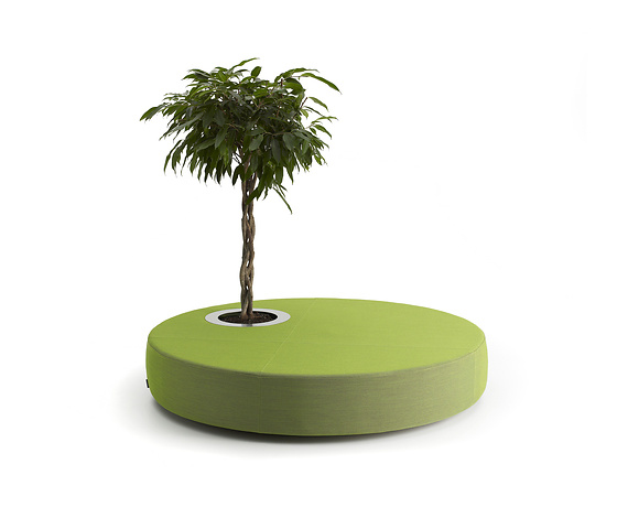 Jean-Marie Massaud Green Islands Seating And Plant Stand