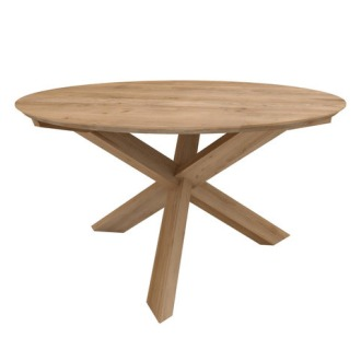 Lara & Alain van Havre Oak Circle Dining Table