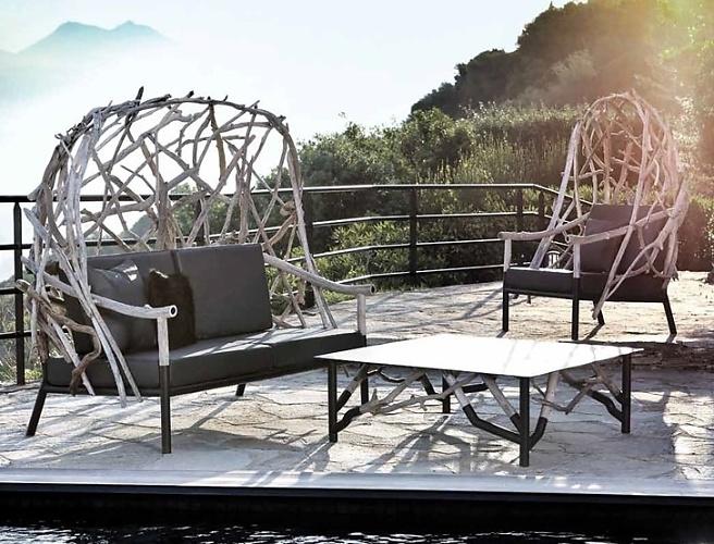 Lefebvre and Taillard Outline High-back Garden Armchair