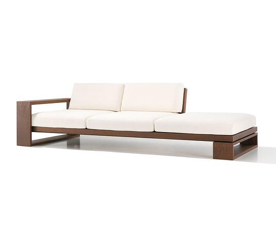 Lievore altherr molina landscape sofa for Sofas de madera para jardin
