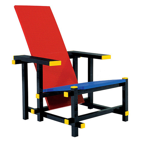Mario Minale Red Blue Lego Chair
