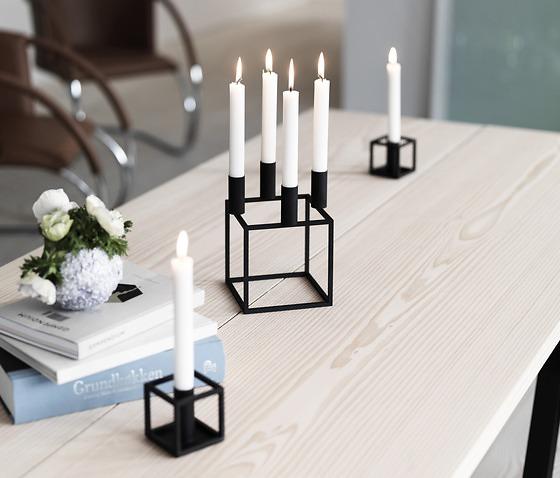 Mogens Lassen Kubus Black Candleholder