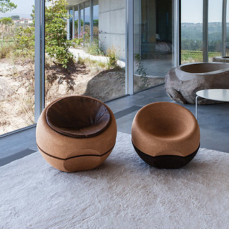 Miguel Arruda Spherical Cork Armchair