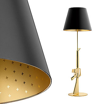 philippe starck gun lamp. Black Bedroom Furniture Sets. Home Design Ideas