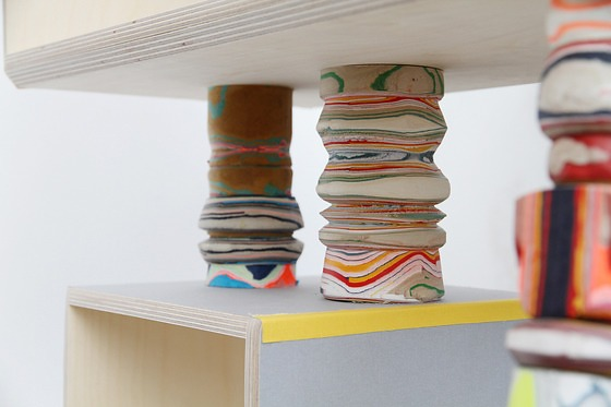 Pia Wüstenberg Processed Paper Shelf