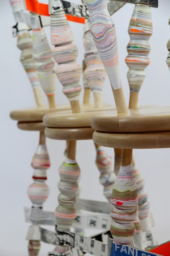 Pia Wüstenberg Processed Paper Stool