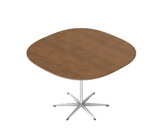 Piet Hein Eek and Arne Jacobsen 6-star Pedestal Base Table Series