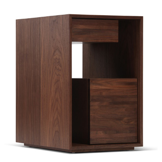 Skram Lineground 2-drawer Side Table-Nightstand