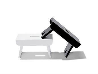 Soren Ulrik Pedersen Big and Small Claus Bench and Stool