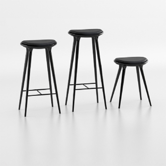 Space Hard Wood High Stool
