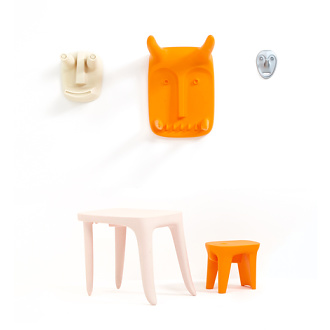 Ambroise Maggiar Vodo Masko Children Desk Stool Set