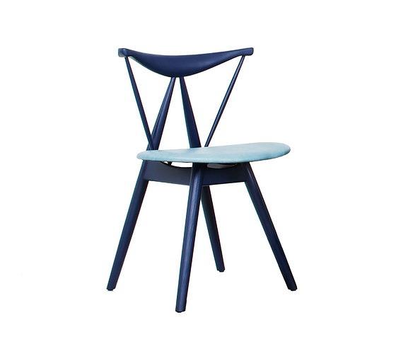 Vilhelm Wohlert Indigo Leather Chair