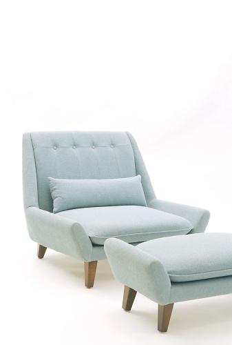 Vioski Palms Chair And Ottoman